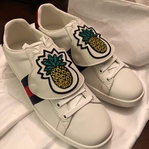 Gucci Ace Removable Patch Pineapple